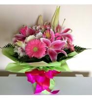 Buquê de Rosas com Lírio - Elegance