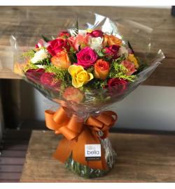 Buquê Colorido - 24 Rosas
