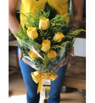 Buquê 06 Rosas Amarelas